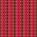 Romantic seamless floral pattern. Endless texture can be used for printing onto fabric and paper, scrap booking. Retro red and bro Royalty Free Stock Photo