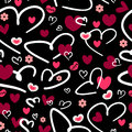 Romantic seamless pattern Royalty Free Stock Photo