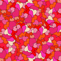 Romantic seamless pattern with hearts Royalty Free Stock Photography