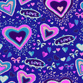 Romantic seamless pattern with hearts lovely texture Royalty Free Stock Photography