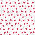 Romantic seamless vector pattern with hearts and arrows. Royalty Free Stock Photo
