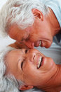 Romantic senior couple Stock Photos
