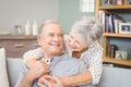 Romantic senior couple at home Royalty Free Stock Photo