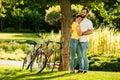 Romantic sensual couple on summer vacation. Royalty Free Stock Photo