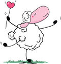 Romantic sheep dance Stock Photo