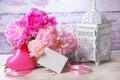 Romantic still life with peony Royalty Free Stock Photo
