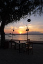 Romantic Sunrise at Gili Trawangan Royalty Free Stock Photo