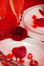 Romantic table setting Stock Photography