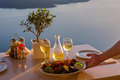 Romantic table for two Royalty Free Stock Photo