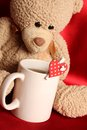 Romantic Teddy Bear Royalty Free Stock Image