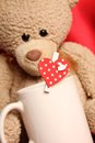 Romantic Teddy Bear Royalty Free Stock Photography