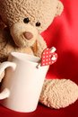 Romantic Teddy Bear Royalty Free Stock Photos