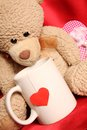 Romantic Teddy Bear Stock Images