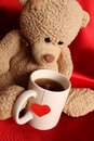 Romantic Teddy Bear Royalty Free Stock Photo
