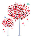 Romantic trees Stock Photos