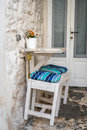 Romantic urban table and chairs for two Royalty Free Stock Photo