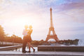 Romantic vacations in france honeymoon paris for loving couple Royalty Free Stock Photography