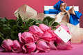 Romantic valentine presents Stock Images