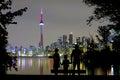 Romantic View On Toronto Skyline