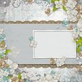 Romantic  vintage  background with frame Royalty Free Stock Photos