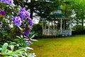 Romantic vintage gazebo in the garden Royalty Free Stock Photo