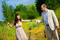 Romantic walk along the railway Royalty Free Stock Photography