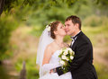 Romantic wedding couple Stock Image