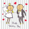 Romantic wedding couple cute married ilustration Royalty Free Stock Image