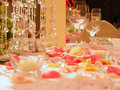 Romantic wedding table Royalty Free Stock Image