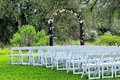 Romantic wedding venue in park Royalty Free Stock Photos