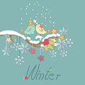 Romantic winter card Royalty Free Stock Image