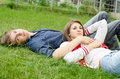 Romantic young couple relaxing Stock Photo