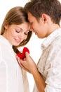 Romantisch ogenblik Royalty-vrije Stock Afbeeldingen