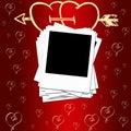 Romantische achtergrond Royalty-vrije Stock Afbeelding