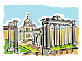 Rome (ancient Roman Forum) Royalty Free Stock Photo