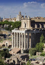 Rome, Ancient roman ruins at the Fori Imperiali Royalty Free Stock Photo