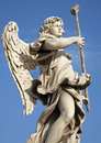 Rome - Angel with Sponge - Angel s bridge Stock Image
