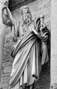 Rome architecture black and white statue in Stock Image