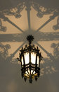 Rome architecture decorative lamp openwork shade metal ceiling lantern mystery Stock Images