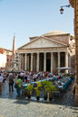 ROME-AUGUST 6: The Pantheon on August 6, 2013 in Rome, Italy. Stock Photo