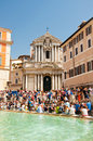 ROME-AUGUST 6: Trevi Fountain on August 6,2013 in Rome. Italy. Stock Images