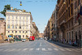 ROME-AUGUST 6: Via Nazionale on August 6,2013 in Rome, Italy. Royalty Free Stock Photo