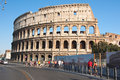 ROME-AUGUST 8: The Colosseum on August 8,2013 in Rome, Italy. Royalty Free Stock Photography