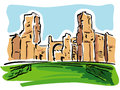 Rome (Baths of Caracalla) Stock Photo