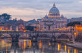 Rome castel sant angelo the situated in the italien capital of Stock Images