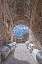 Rome colosseum interior a view of the impressive ancient roman situated in the italien capital of Royalty Free Stock Photos