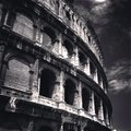 Rome colosseum romes and sky in italy Royalty Free Stock Image