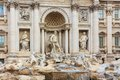 Rome fontana di trevi italy Stock Photos
