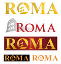 Rome icon symbol isolate on white background Royalty Free Stock Image