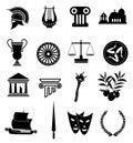 Rome icons set